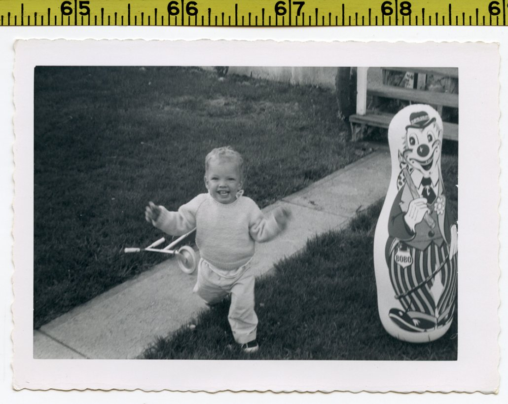 Vintage 1960 Photo / Bobo The Clown Punching Bag Toy Makes