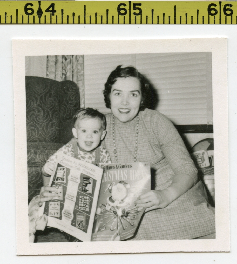 Details about Vintage 1950's photo / Mom & Son BETTER HOMES & GARDENS  Christmas Ideas Magazine
